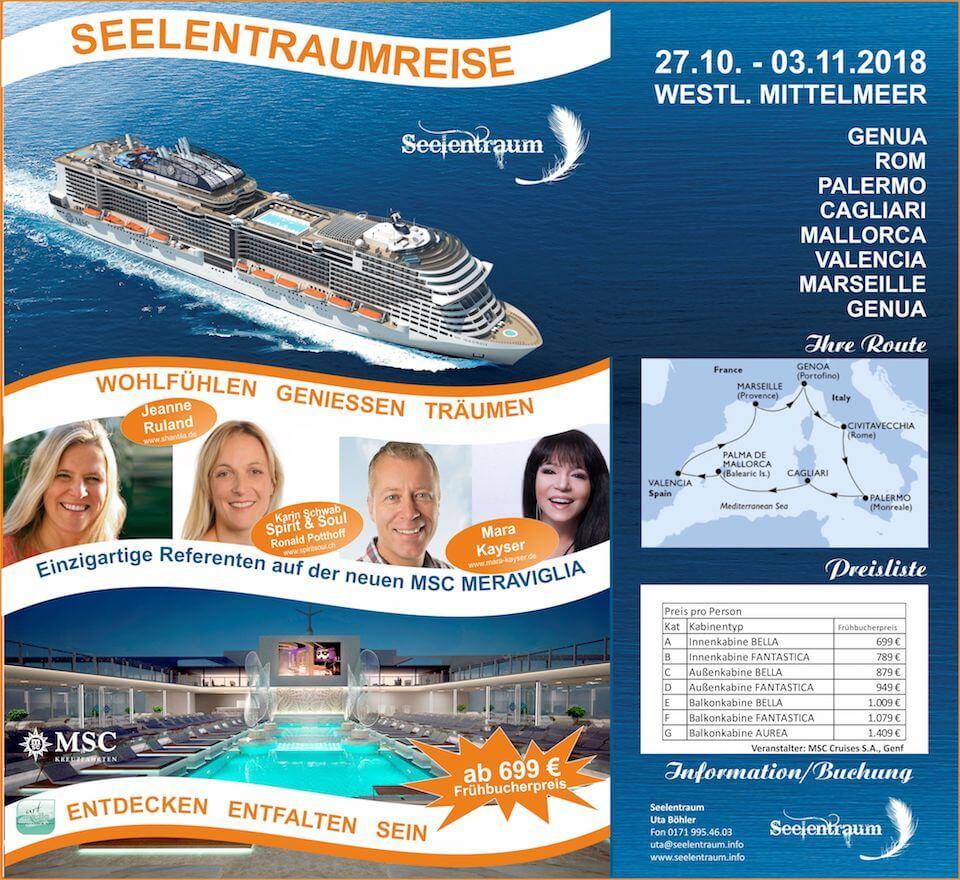 Kreuzfahrt Seelentraumreise Oktober 2018