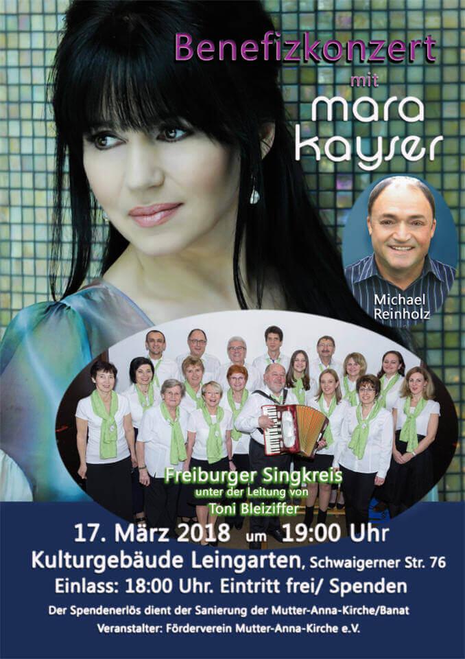 Benefitskonzert Mutter-Anna-Kirche in Leinfelden: Mara Kayser